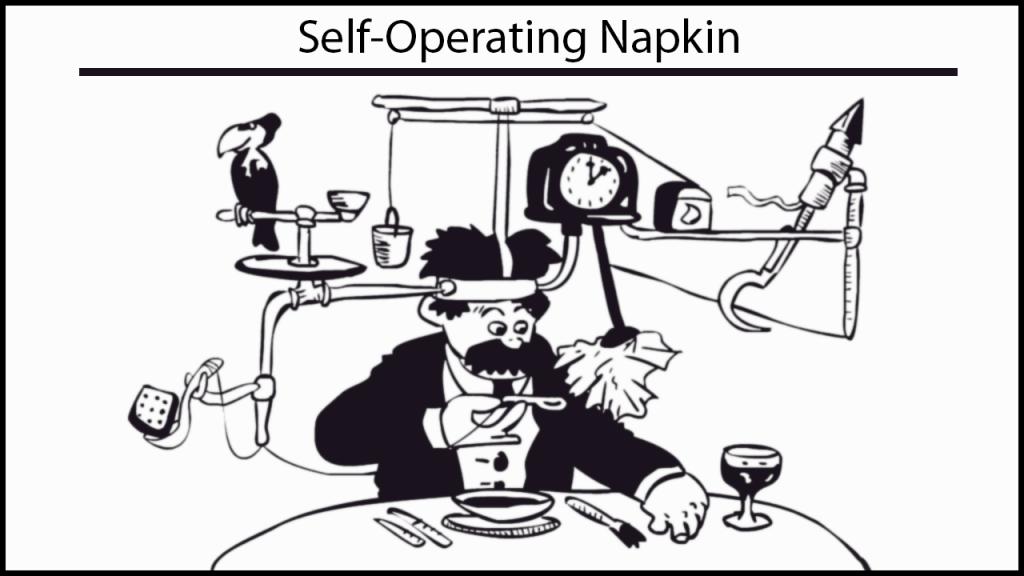 image of self-operating napkin